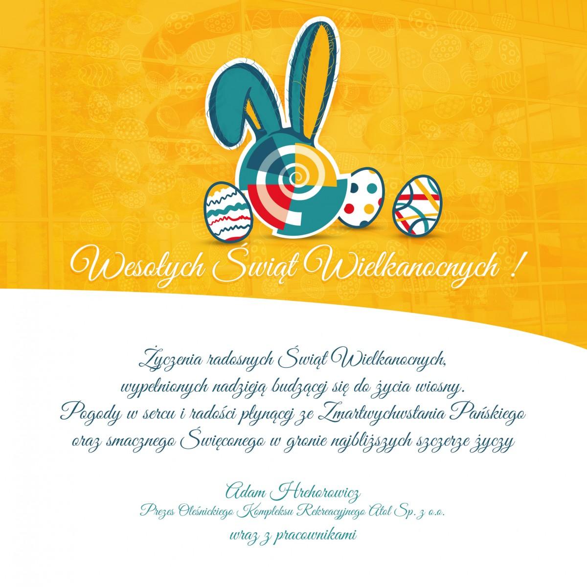 Życzenia Wielkanocne - treść dostępna poniżej